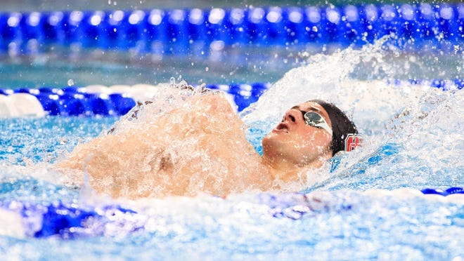 York Suburban High graduate Coleman Stewart swims the backstroke while at North Carolina State. Stewart finished in the top 10 in three events last week while at U.S. Swimming Olympic Team Trials.