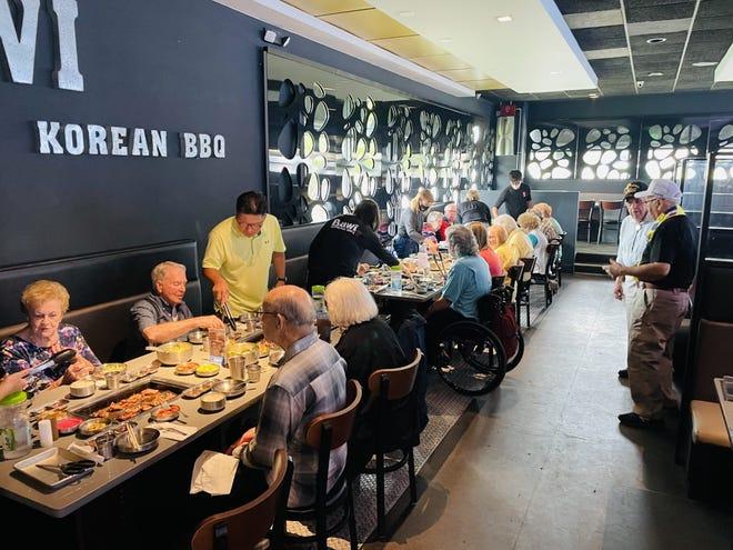Bawi Korean BBQ hosts lunch for Korean war veterans
