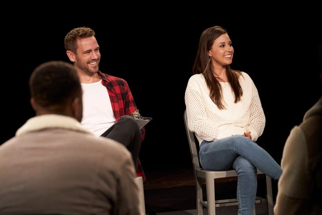 """""""Bachelorette"""" star Katie Thurston was joined by franchise alum Nick Viall for a date centered around opening up about major past experiences."""