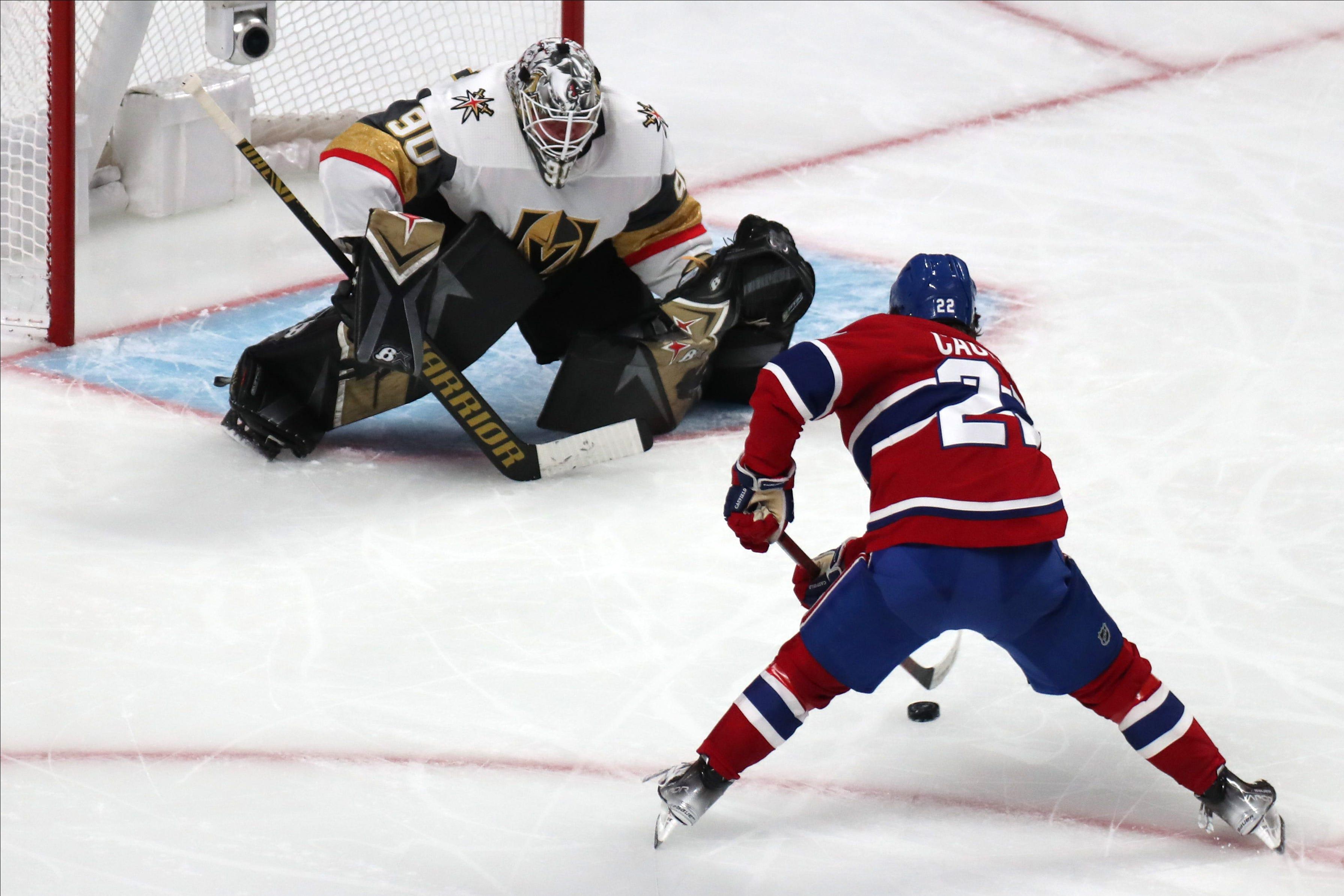 Goalie Robin Lehner gets start, helps Vegas Golden Knights beat Montreal Canadiens to tie series