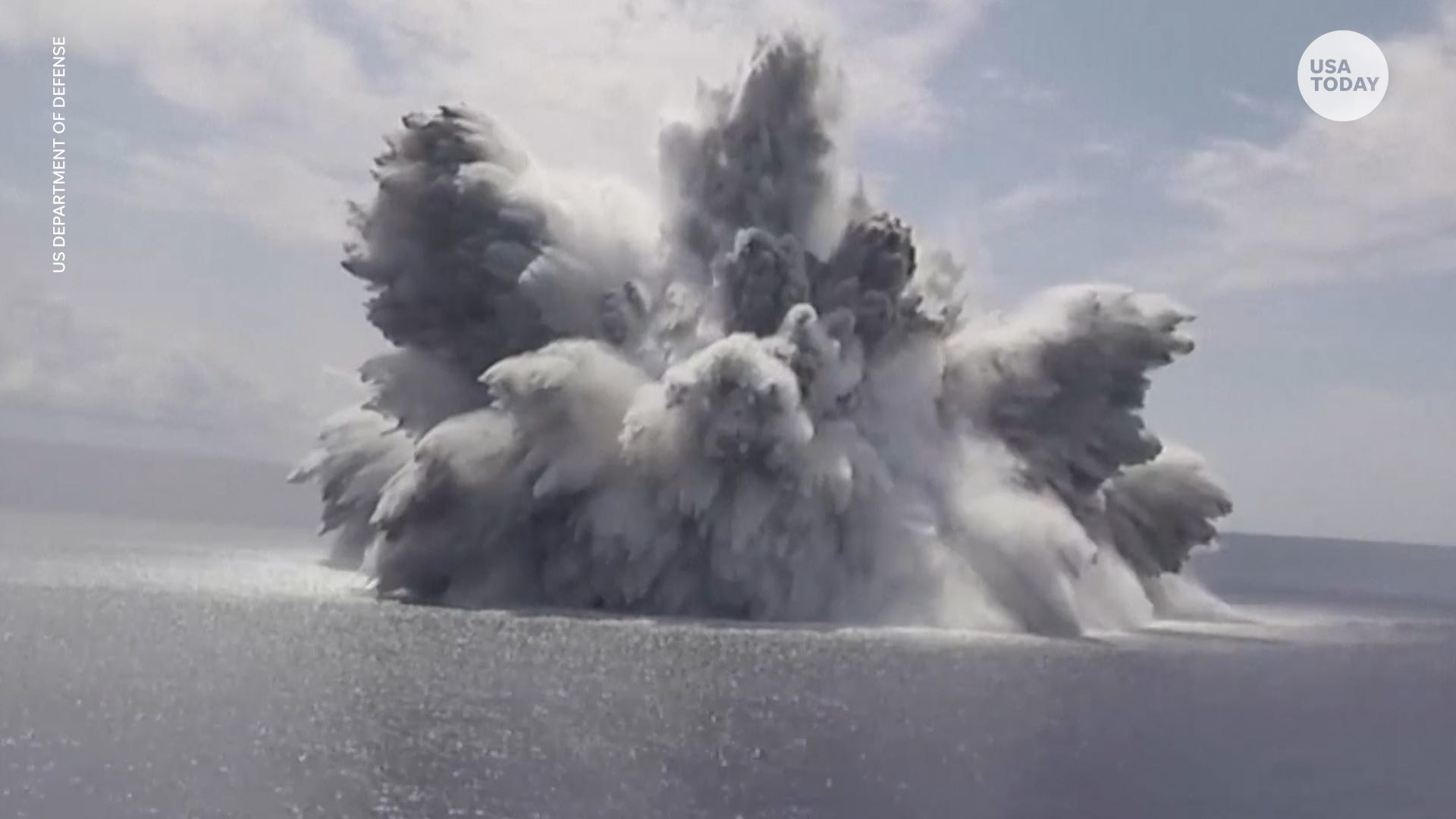 US Navy tests aircraft carrier with massive explosion off the coast of Florida