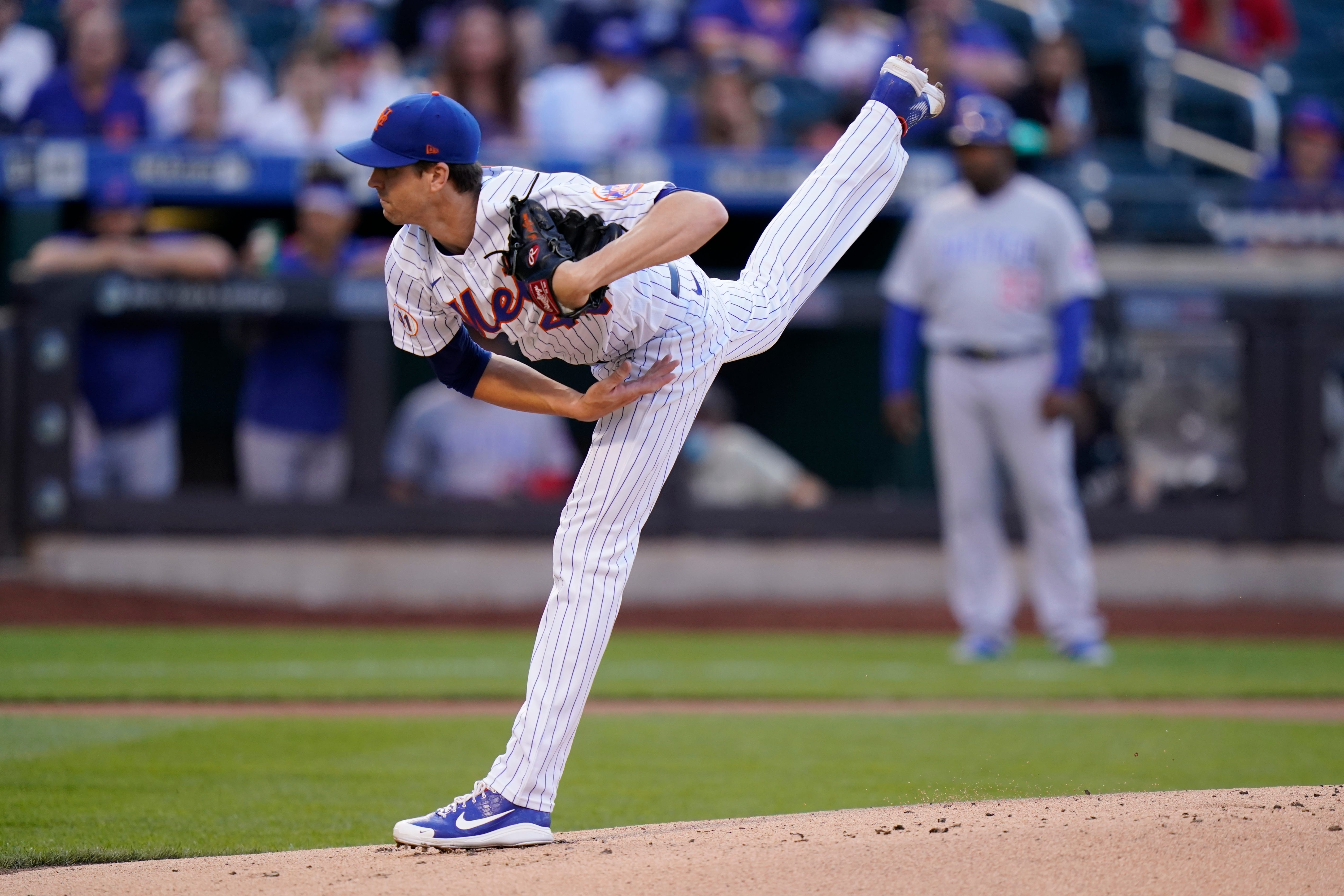 New York Mets pitcher Jacob deGrom is checked for foreign substances and passes inspection