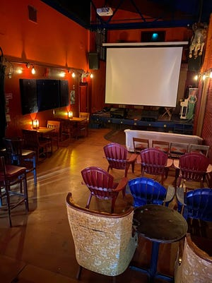 This contributed photo from June 21, 2021 shows the screening room inside Flicker Theatre & Bar at 263 W. Washinton St. in Athens, Ga..