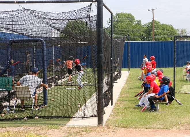 Skills camps in a variety of sports have taken place at high schools and Howard Payne University this summer, including this baseball skills camp put on by HPU at Don Shepard Park. The camp, for children ages 6-14, began Monday and ends Thursday.