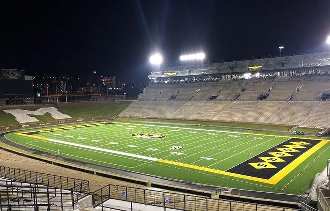 Missouri's new turf field has been installed.