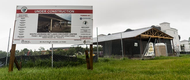 The first phase of the South Louisiana Wetlands Discovery Center, a wetlands exhibit and pavilion, is under construction near the Houma-Terrebonne Civic Center.