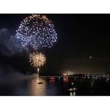 Fourth of July fireworks in Destin.