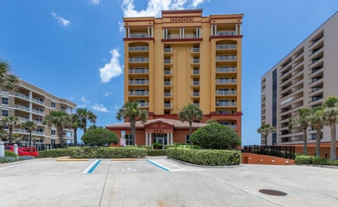 Tuscany Shores is a highly desirable boutique condominium community in Daytona Beach Shores, with 33 units – three per floor. Beside security cameras and security entry codes in the elevator, its amenities include an outdoor beachside pool, fitness room and clubhouse.