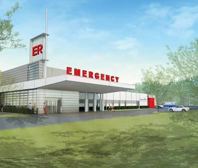 Rendering of AdventHealth Port Orange ER