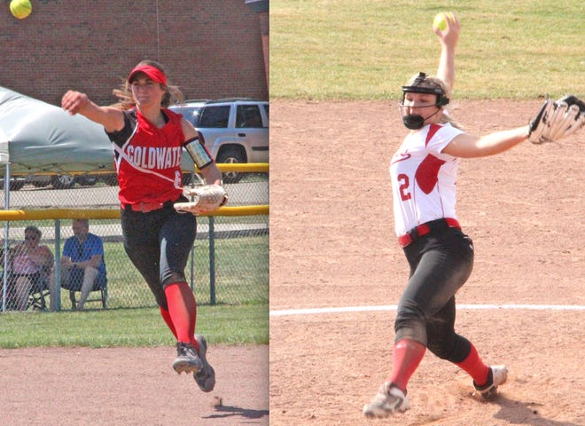 The Coldwater duo of Jayla Foster (left) and Mia Rzepka (right) earned Interstate 8 All Conference First Team honors in 2021