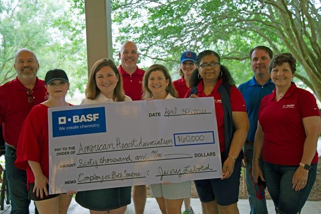 BASF employees raised $60,000 for the American Heart Association through their 20th annual golf tournament.