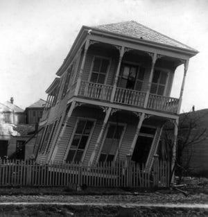 Twisted House Galveston Hurricane 1900