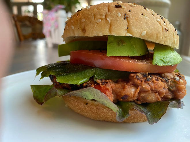 Adding a special take on a family recipe of homemade barbeque sauce provides a richness and smokiness to these Beanie Burgers.