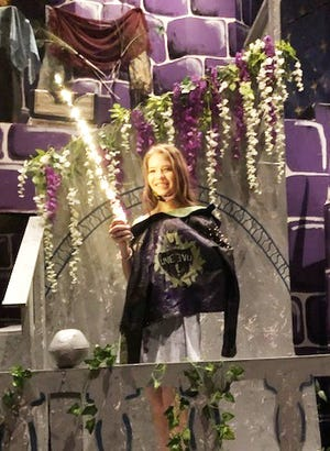 Kaydence Lagergren of the Children's Theatre of La Junta will have the role of Audrey in its production of Disney's The Descendants. She also designed several of the costumes in the play.