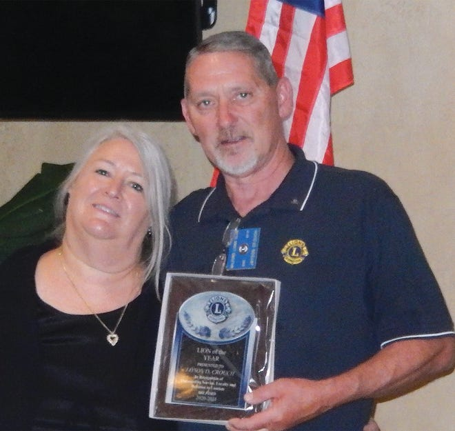 Kent-Sussex Industries Inc. CEO Jayson D. Crouch was recently recognized as Lion of the Year by the Milford Delaware Lions Club during its 75th Birthday Charter Night Awards Dinner held at Benvenuto. Gail Wadkins-Berry, president of the Milford Lions Club, presented the award to Crouch in appreciation of his dedicated volunteer service to the club.