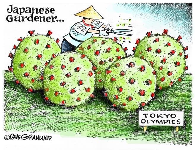 Dave Granlund cartoon on Tokyo Olympics