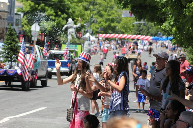 Mount Shasta's Fourth of July parade in 2019.