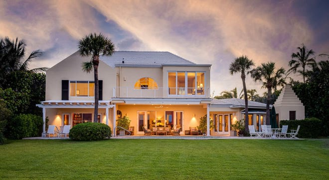 With its east facade facing the sea across a broad lawn, a direct-oceanfront house at 143 E. Inlet Drive, near the north tip of Palm Beach, has been listed at $45 million.