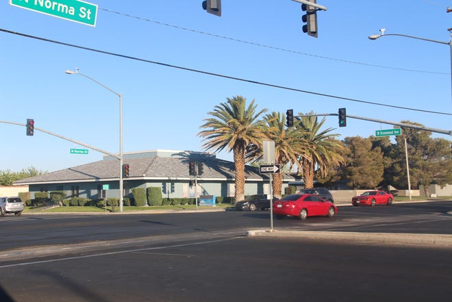The intersection at Drummond Avenue and Norma Street in Ridgecrest is the city's most severe in terms of cars bottoming out, according to city sources.