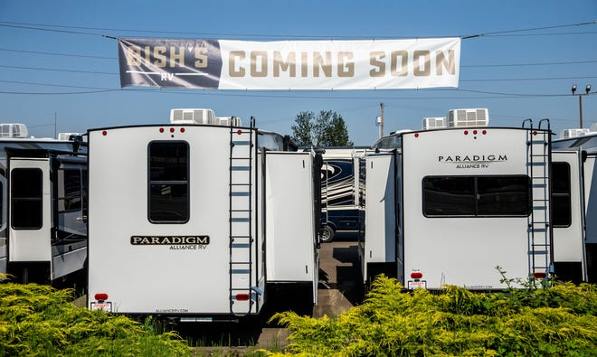 The Guaranty RV dealership in Junction City is being sold to Bish's RV on July 5. Bish's is also located in Idaho, Montana, Indiana, Utah, Nebraska, Iowa and Wyoming.