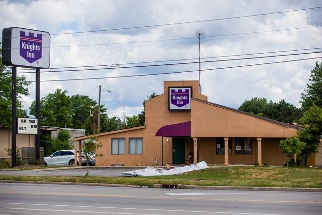 The Knights Inn Tuesday, June 22, 2021 on Lincolnway West in South Bend.