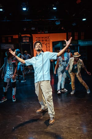 """Michael Mendez played Usnavi, the main character in the Tony Award-winning musical """"In the Heights"""" at the Westcoast Black Theatre Troupe in 2017."""