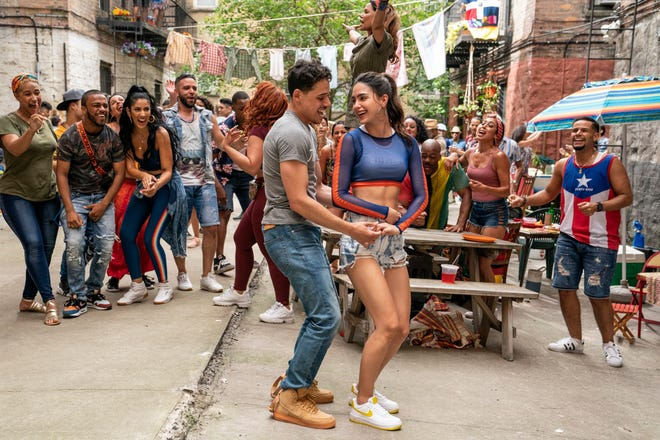 """Anthony Ramos and Melissa Barrera in a scene from """"In the Heights."""""""