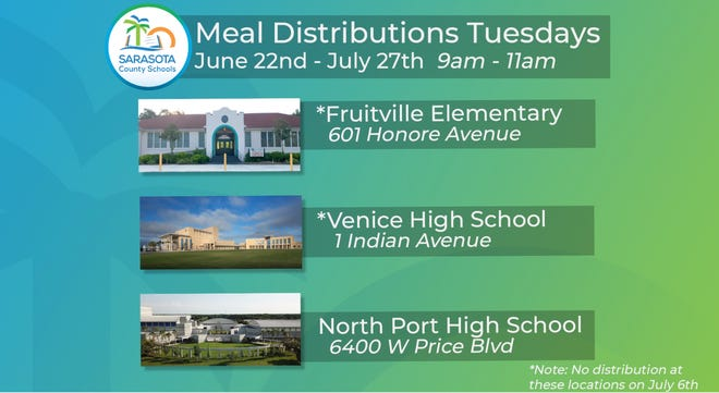 Sarasota County School District launched its summer food distribution on Tuesday. [Photo courtesy of the Sarasota County School District]