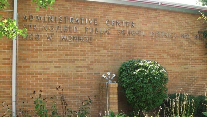 The District 186 Administrative Center at 1900 W. Monroe St. in Springfield.