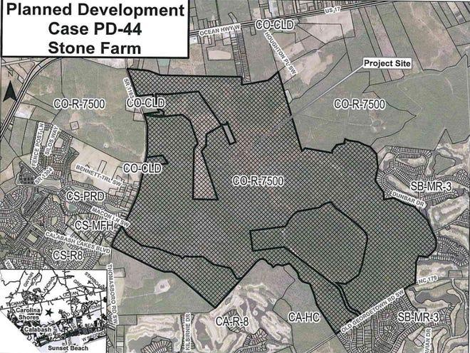 The Stone Farm planned development will bring more than 2,000 units near Calabash off of Thomasboro Road.