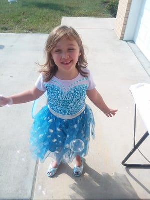 Shawna Bledsoe says her 6-year-old daughter Zoey Landis, shown here, isn't expected to walk after being seriously injured Sunday in a vehicle accident.