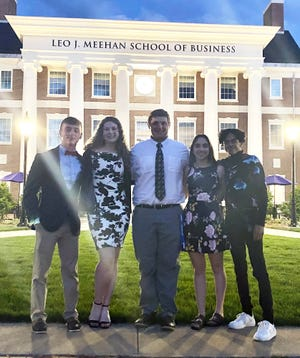 Clinton HIgh School sent six, 11th-grade representatives at Boys and Girls State. Shown are (from left) Finn McNally, Madison McDonald, Patrick Moran, Autumn Garceau and Jhoan Ogando.  Absent from photo Daniel Scanlon.