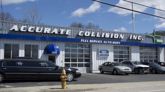 The former Accurate Collision in Worcester. The location, now Diamond Collision Center, is run by a different owner.
