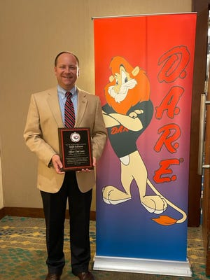 Sgt. Chad Laws of the Alamance County Sheriff's Office was chosen as DARE officer of the year.