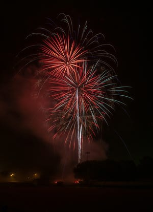 This image is from Whitehall's 2019 Fourth of July fireworks display. This year's fireworks will be from 8 to 10 p.m. July 2, and a parade will start at 10 a.m. July 3.