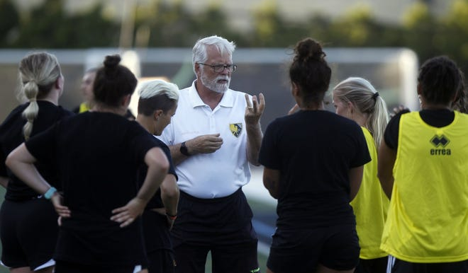 Columbus Eagles FC founder Mark Wise has returned to the sideline as coach.