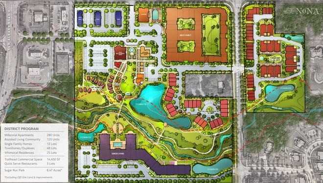 Local developer Steiner + Associates wants to build North of New Albany, or NoNA, on 30 acresbordered by Central College Road, New Albany Condit Road and Walton Parkway.