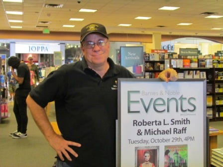 Local author Michael Raff at Barnes & Noble in an undated photo.