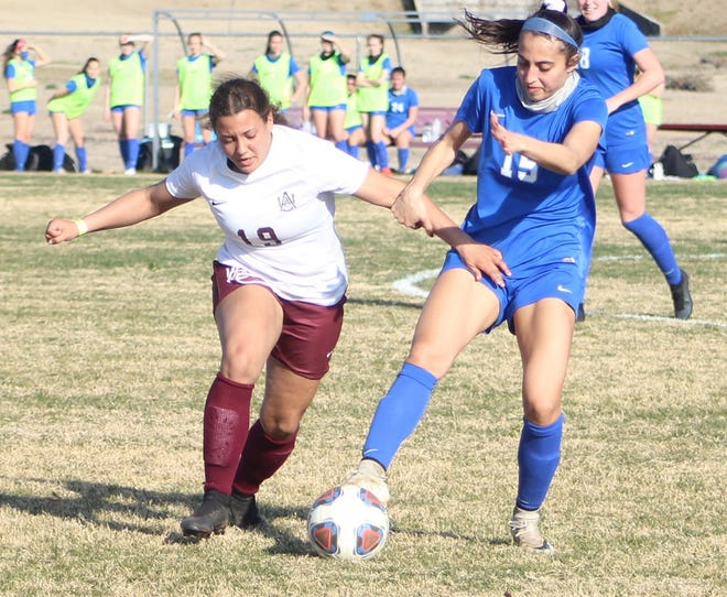 Red Oak High School graduate Makayla Rushing, left, plays for Alabama A&M University. Rushing, a sophomore midfielder, was named first-team all-Southwestern Athletic Conference last season.