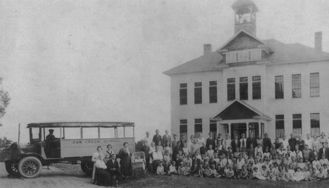 The Haw Creek School that replaced Bell's church-funded school in the 1920s.