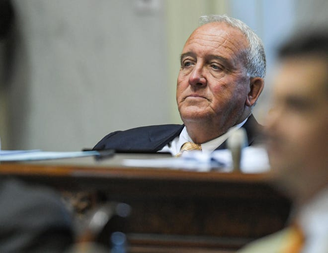 State Sen. Mike Gambrell of District 4 of Abbeville, Anderson, and Greenwood Counties during a session in the South Carolina Senate of the State Capitol in Columbia, S.C. Monday, June 21, 2021.