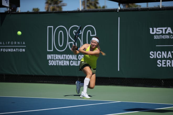 Reese Brantmeier was the runner-up in singles at the International Open of Southern California at Barnes Tennis Center in San Diego on March 26.
