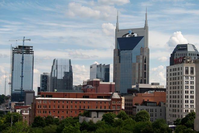 The Nashville skyline as pictured on Friday, June 4, 2021 in Nashville, Tenn.