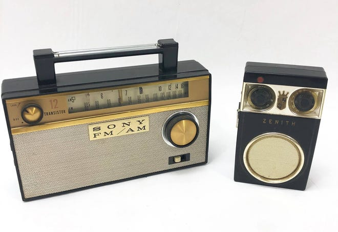 Transistor radios like this were mid-century favorites and crucial in helping the post-war Japanese economy.