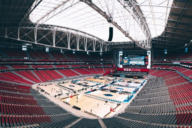 Section 7 drew rave reviews for its efficiency with close to 200 high school basketball teams playing at State Farm Stadium, June 18-20. @Section7AZ