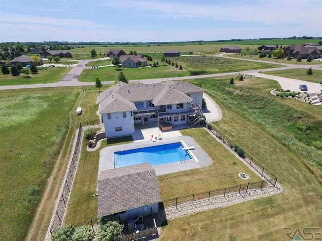 The five-bedroom and six bathroom home at 47972 Prairie Hills Trail offers 5,374 square feet on nearly one-and-a-half acres of land.