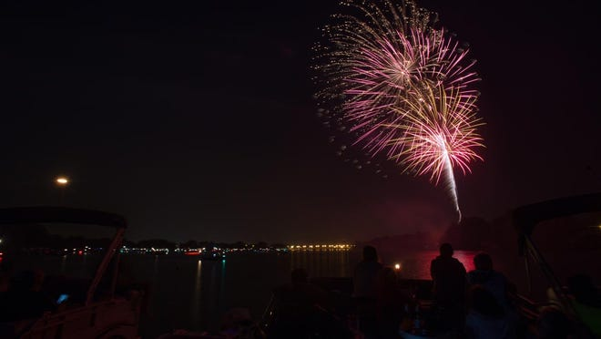 Fireworks brighten the sky in Stevens Point.