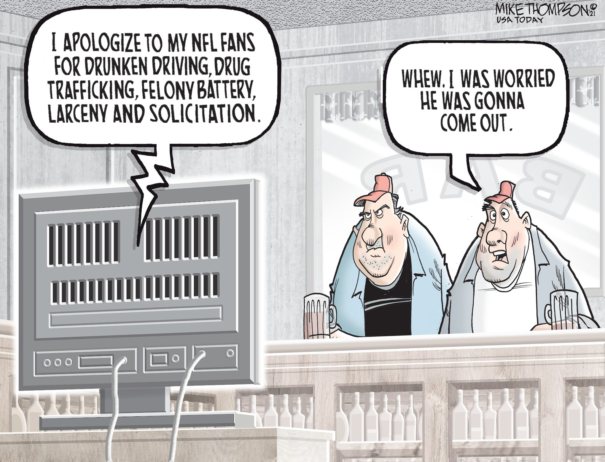 NFL player comes out: Today s Mike Thompson Toon