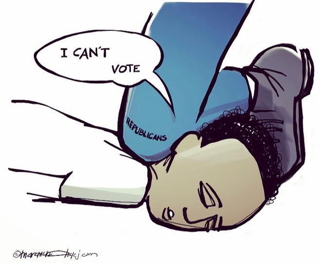 I can't vote