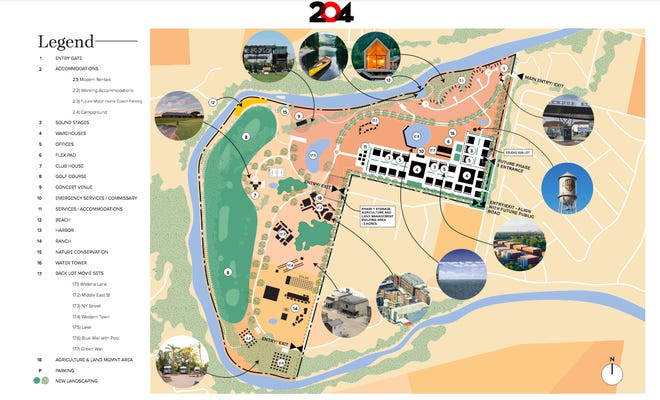 City of Bastrop documents show an updated proposed informational land plan from Line 204 Studios for a proposed 546-acre film development in Bastrop. The updated proposed informational land plan was submitted as part of the Bastrop City Council's June 22 meeting.